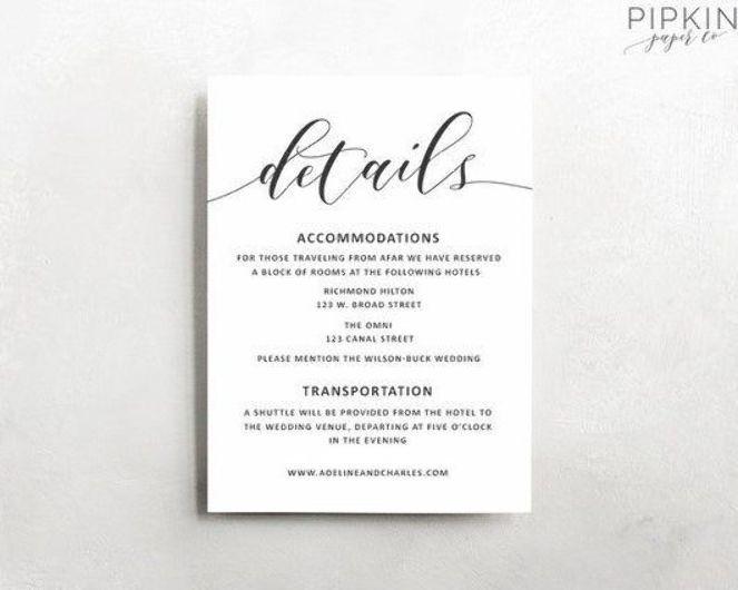 Wedding Details Template Wedding Information Card Rustic Wedding Details Template Rust Wedding Details Card Wedding Details Printable Wedding Invitations