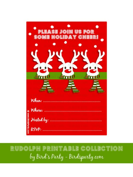 19 best images about Winter Birthday Party Free Printables on – Free Christmas Invitations Printable Template