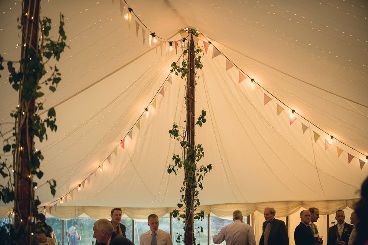 Marquee, fairy lights, bunting    Keeble Wedding Collection Photo By Big Fish Photography