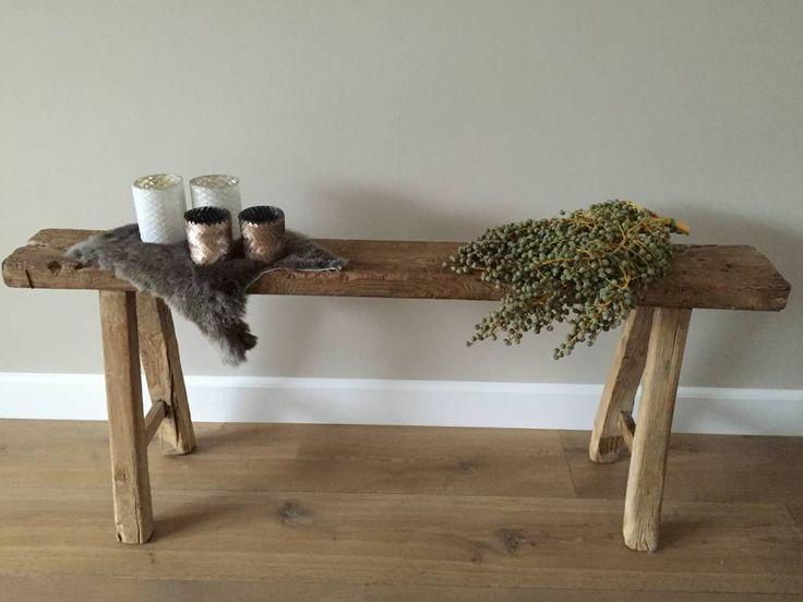 Sidetable hout google zoeken woonideeen pinterest oud hout hout en zoeken - Rustieke eetkamer decoratie ...