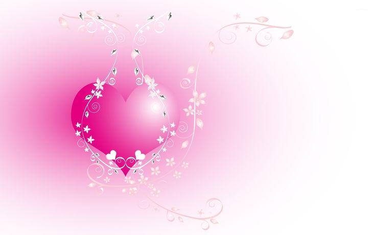 Pink Love Heart Backgrounds Wallpaper