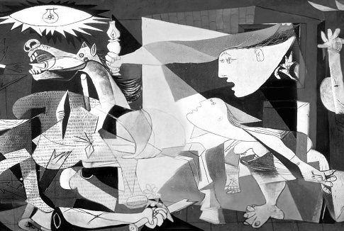 Guernica   Picasso l El mural «Guernica» fue adquirido a Picasso por el Estado español en 1937. Debido al estallido de la Segunda Guerra Mundial, el artista decidió que la pintura quedara bajo la custodia del Museum of Modern Art de Nueva York hasta que finalizara el conflicto bélico. En 1958 Picasso renovó el préstamo del cuadro al MoMA por tiempo indefinido, hasta que se restablecieran las libertades democráticas en España, regresando la obra finalmente a nuestro país en el año 1981…