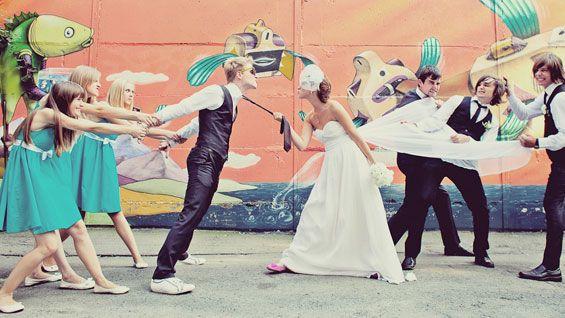 Lustige Hochzeitsbilder | Inspirationen, Tipps & Beispiele