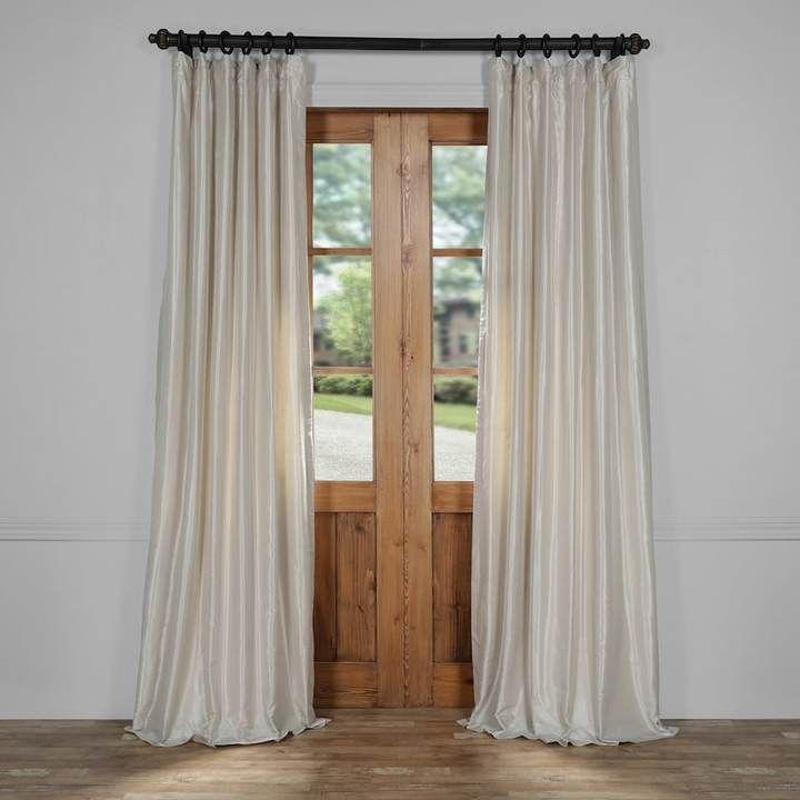 EFF Vintage Textured Faux-Dupioni Silk Window Curtain