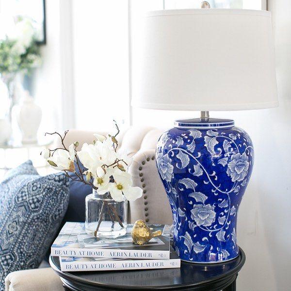 Hamptons Style On Instagram New Lamp Alert Trellis Table Lamp Trellis Ceramiclampbase Blueandwhite Livingroom Livingroominspo Decorate
