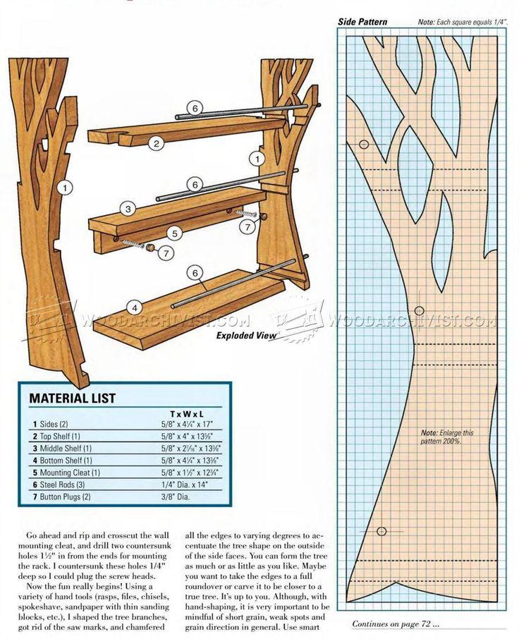 #2432 Wooden Spice Rack Plans - Furniture Plans Woodworking Plans