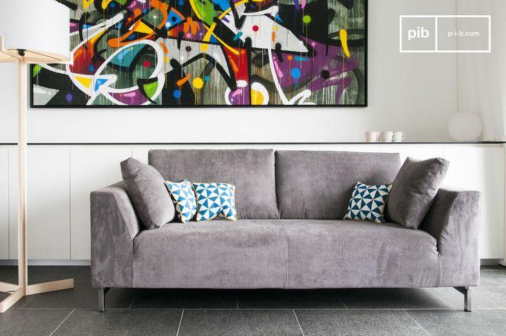 Canapé scandinave confortable, ce canapé design s'incrit dans la tendance de style vintage.