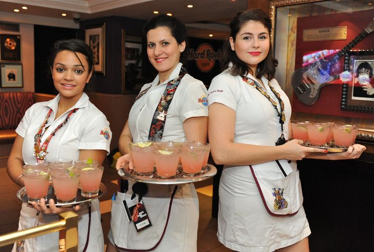 Our servers make sure you never go thirsty! #Cocktails