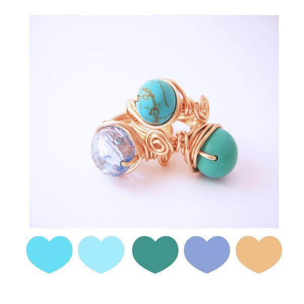 Paleta de colores de algunos de nuestros anillos  ❤ .
