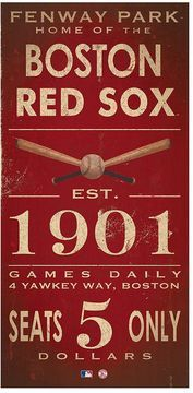 Boston Red Sox Vintage Canvas Wall Art