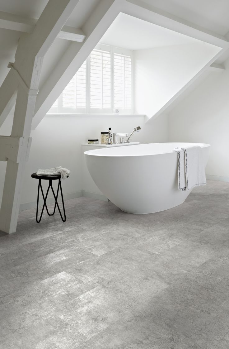 Tile a bathroom floor - Polyflor Camaro Loc Grey Flagstone Is A Modern Twist On A Classic Tile This Familiar And Reliable Design Has Been Remade In The Form Of Sturdy Warm