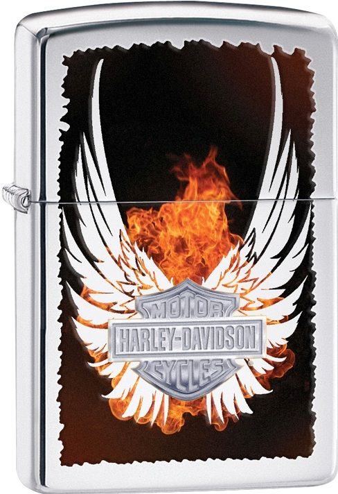 28824 HARLEY DAVISDON ZIPPO SHIELD WITH WINGS CHEAP ZIPPO LIGHTERS