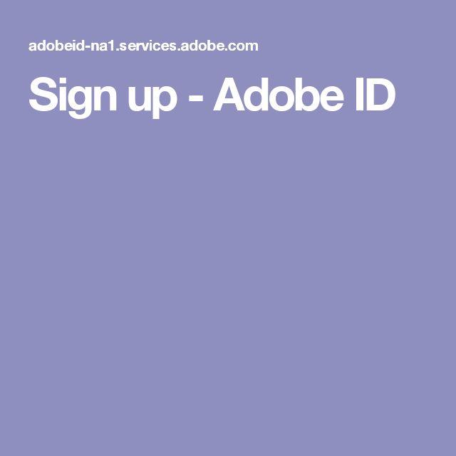 Sign up - Adobe ID