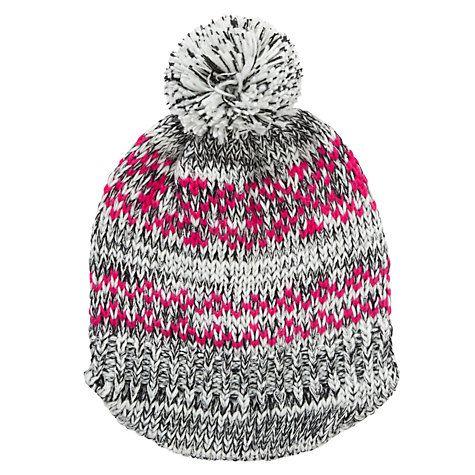 Buy Collection WEEKEND by John Lewis Fairisle Spacedye Bakerboy Bobble Beanie Hat, Multi Online at johnlewis.com
