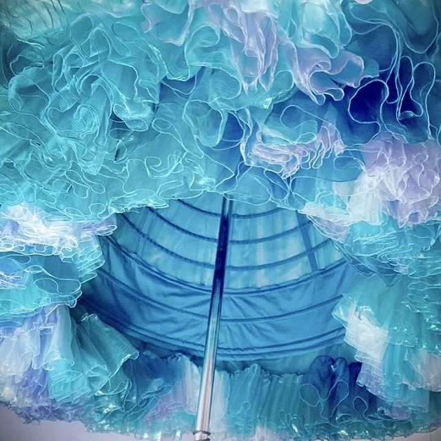 When life gives you fabric, make two miles of watercolor ruffles!!! #Disney #Cinderella