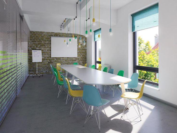 Sala konferencyjna, urządzona tak jak lubimy. #loft, #design #projekt #wnętrza