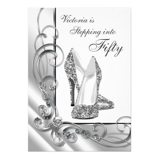 17 Best images about Silver Black Birthday Party Invitations on – Invitation Birthday Party Card
