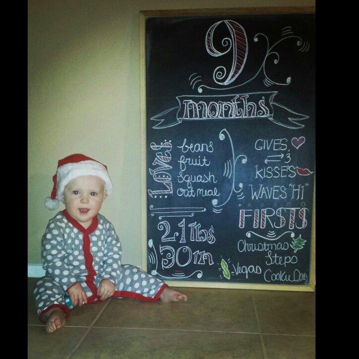 Kayden-9 months chalkboard tracker pregnancy chalkboard baby countdown