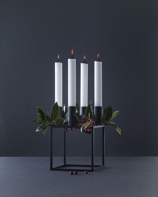 Kubus 4 schwarz von #byLassen ein Kerzenständer der Bauhauszeit - Gefunden auf #KONTOR1710