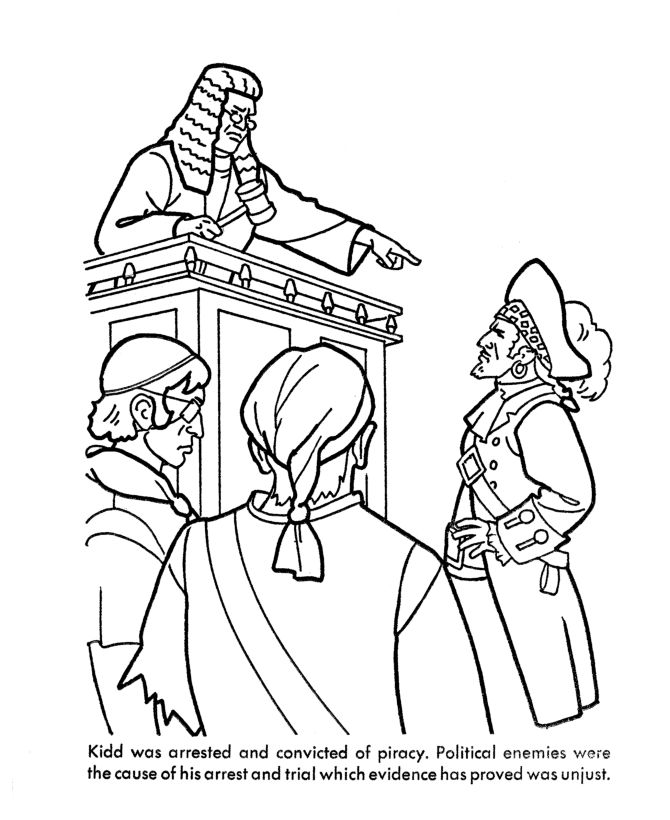 famous pirates coloring pages - photo#36