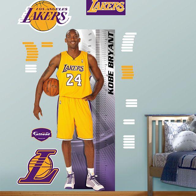 Fathead Kobe Bryant Growth Chart   Wall Sticker Outlet | NBA Basket Ball Wall  Stickers | Pinterest | Kobe Bryant, Kobe And Nba Basket Part 90