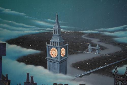 from Disney's Peter Pan, London at night