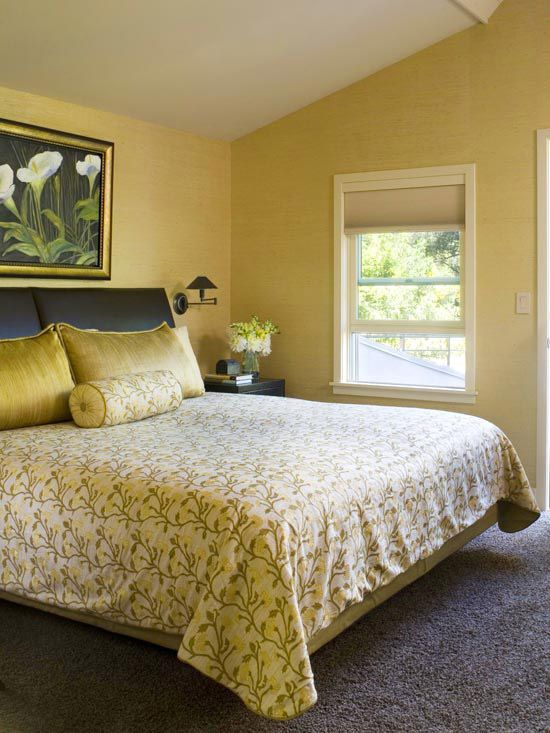 Decorating Ideas For Yellow Bedrooms Better Homes And Gardens Dream Home Pinterest Bedroom Room