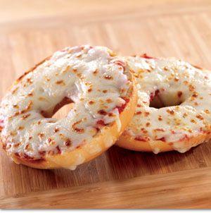 Mmmm! Pizza bagel!