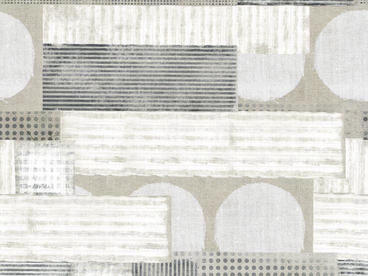 Carta da parati a motivi geometrica per bagno GESTALTEN by Wall