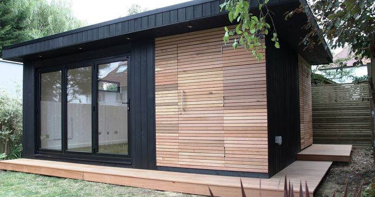 Large Wooden Garden Rooms: Office In My Garden: A Large Garden Room With Contrasting