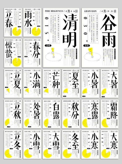 The 24 Chinese Solar Terms (二十四)節氣