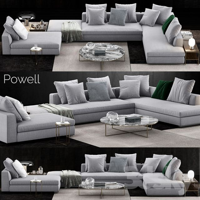 Minotti Powell Sofa Corner Sofa Design Couches Living Room Apartment Living Room Design Modern