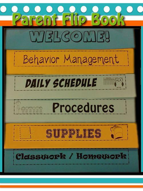 meet the teacher flipbook editable bright ideas for school