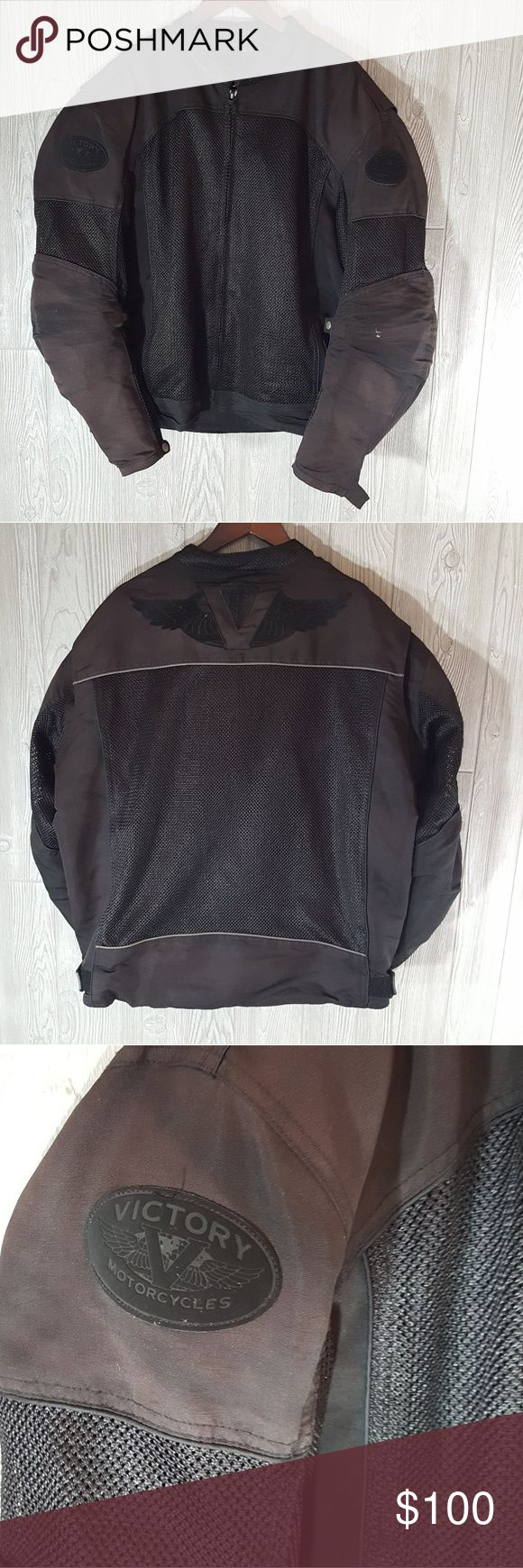 2xl Pure victory motorcycle summer jacket w armour Very good used condition summer mesh breathable jacket for motorcycles. Built-in foam armor to protect yourself from road rash. Some minor signs of wear but overall fantastic condition size 2XL pure victory Jackets & Coats Performance Jackets