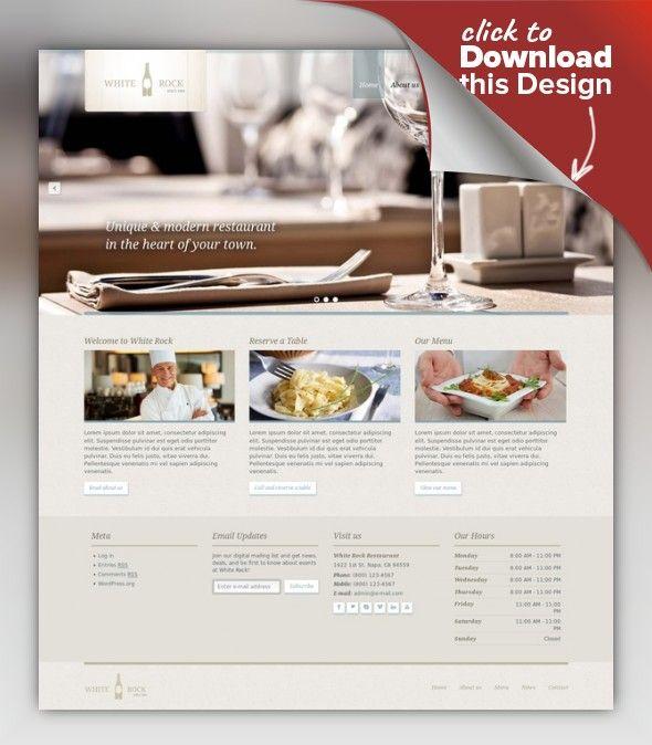White Rock Restaurant Winery Theme Bar Cafe Chef Dining Full Screen Full Width Fullscreen Web Template Design Best Website Templates Web Inspiration