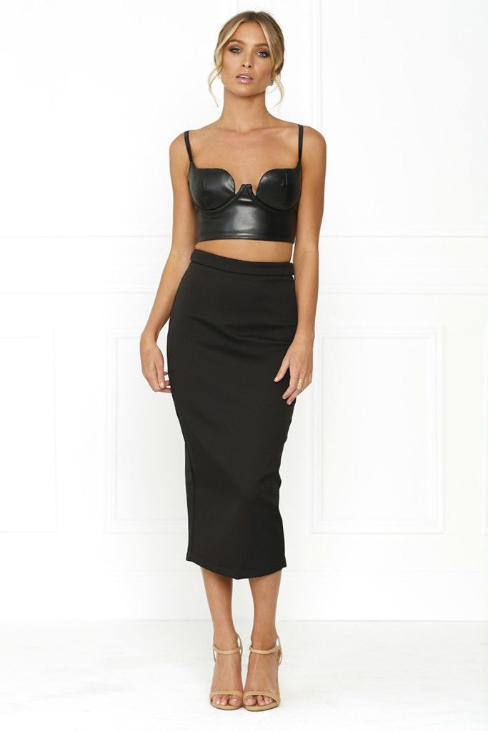 Honey Couture - Rebecca Black Pencil Silver Zip Skirt