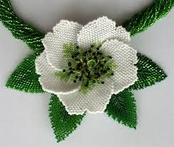 beaded flower patterns - Google Search