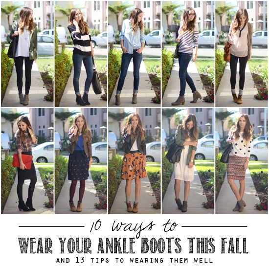 10 Ways to Wear Ankle Boots (and 13 Tips To Wearing Them Well).. Read the tips and agree.. Except the socks tip.. I can't get myself behind that trend just yet