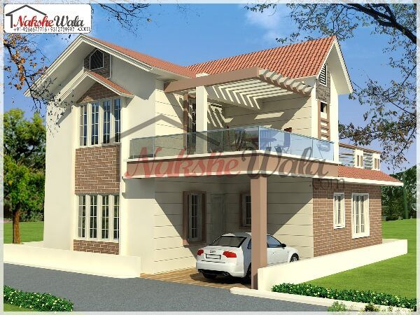 Hut shaped elevation hut shaped 3d front view movies for Type of floors in houses