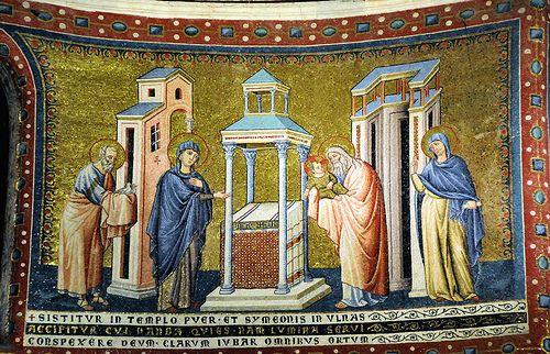 S. Maria in Trastevere - presentazione al tempio - Pietro Cavallini  #TuscanyAgriturismoGiratola