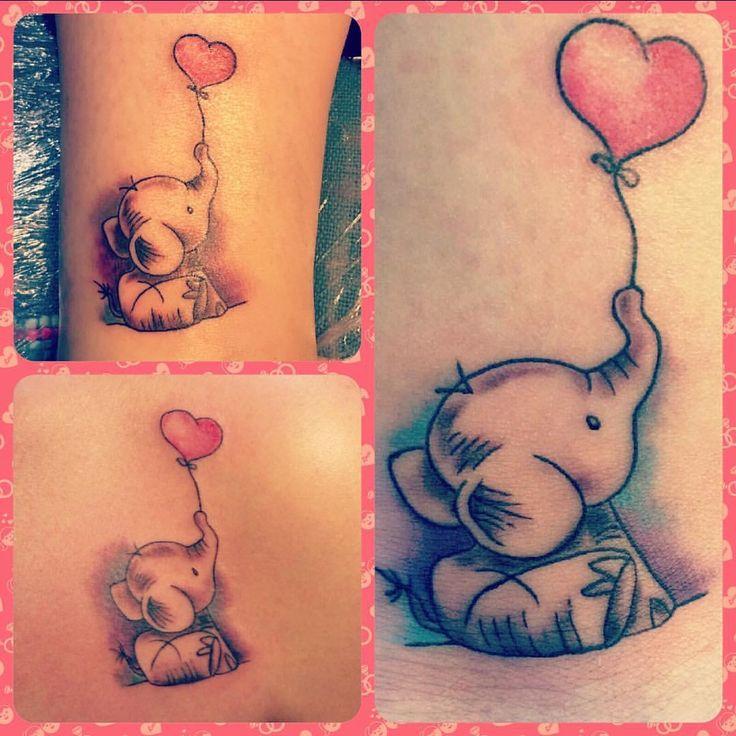 Elefantas rosas tatto #amigas