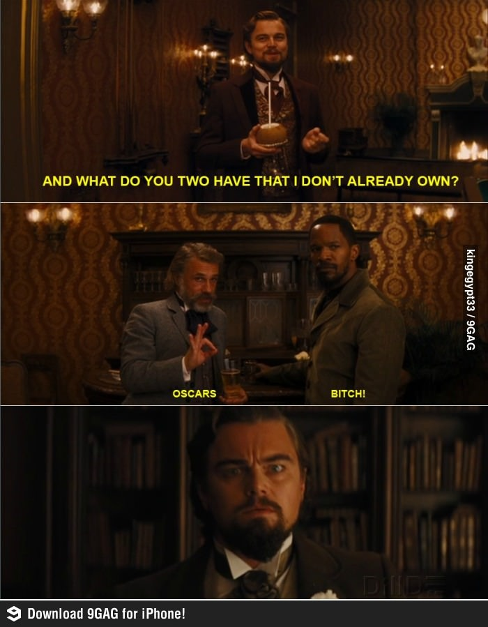 Leonardo diCaprio - three nominations, no oscars  Jamie Foxx - two nominations, 1 oscar  Christoph Waltz - two nominations, 2 oscars