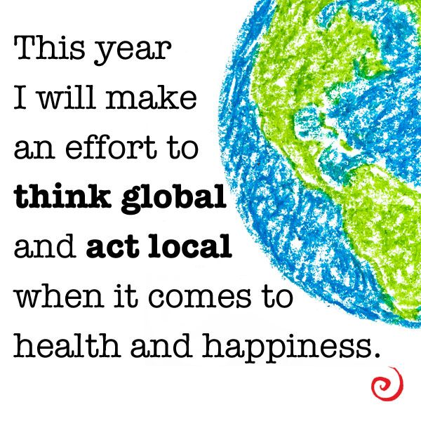 think globally act locally essay