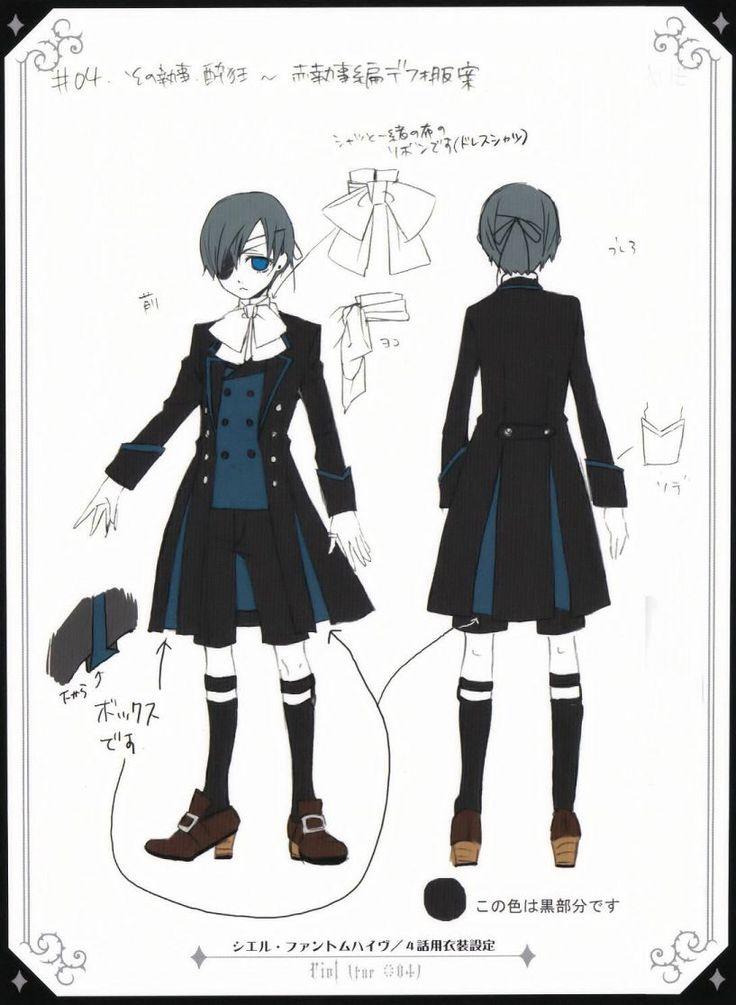 Kuroshitsuji Character Design Book : Best kuroshitsuji images on pinterest black buttler