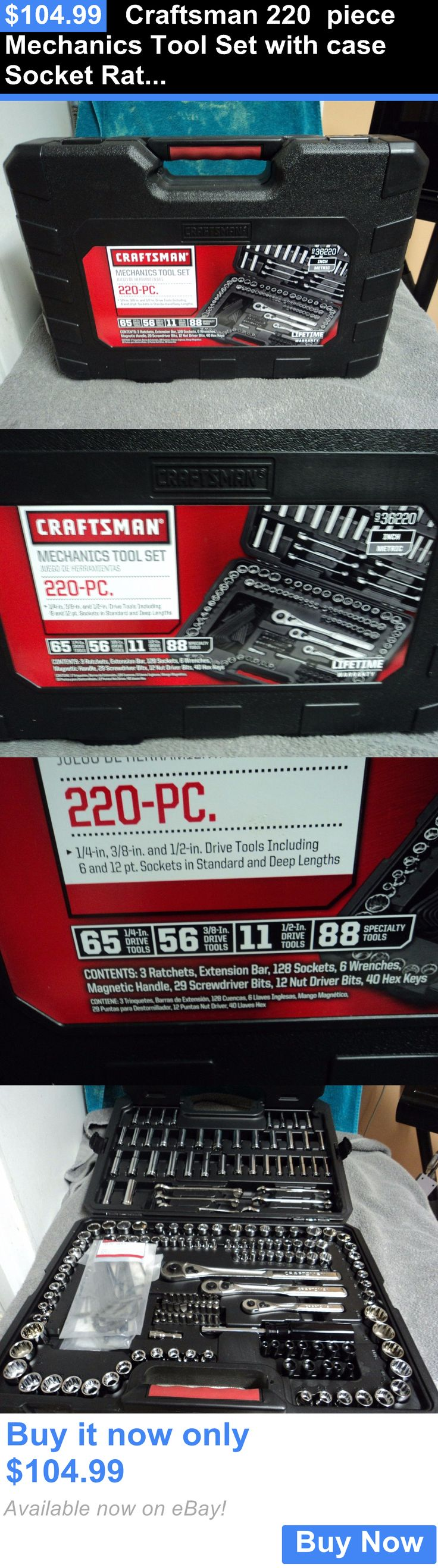 tools: Craftsman 220 Piece Mechanics Tool Set With Case Socket Ratchet Wrench Sae/Mm BUY IT NOW ONLY: $104.99