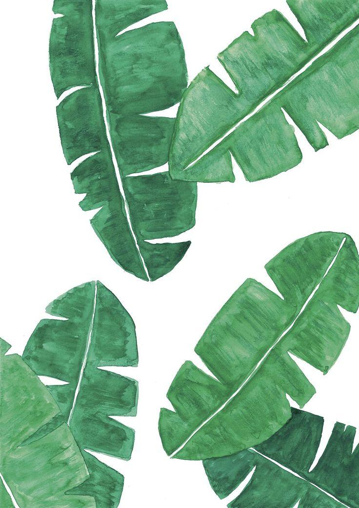 banana leaves print
