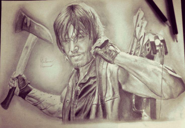 The Walking Dead - TWD - Daryl Dixon - Norman Reedus - Drawing - Débora Correia