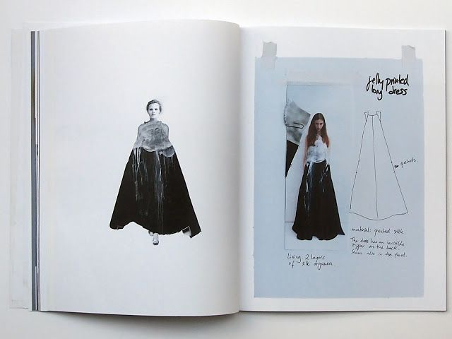Fashion Sketchbook - printed dress design development - fashion drawings; fashion design process; fashion portfolio // Sabela Tobar