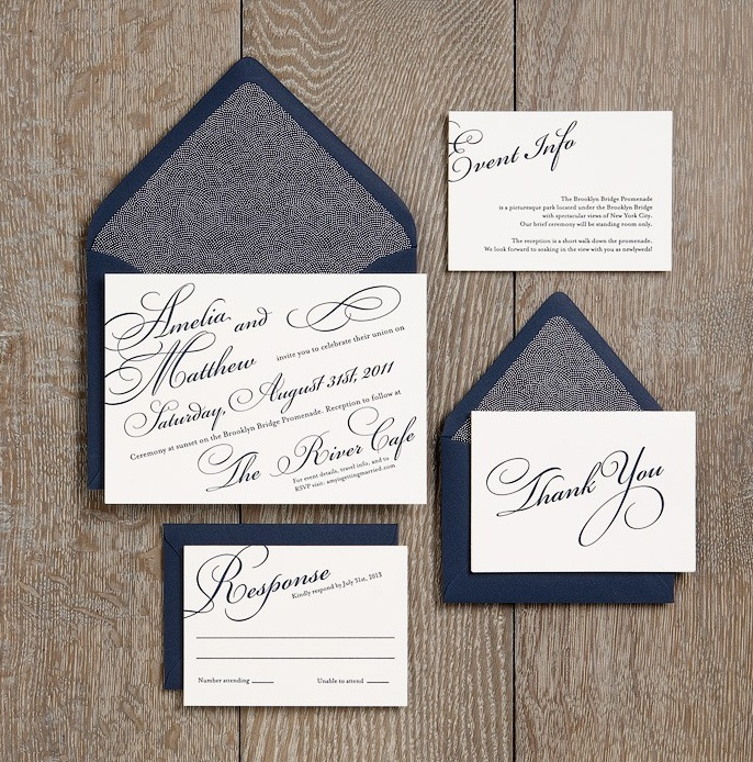 Beautiful Wedding Invitations. Simple, Yet Elegant. From Paper Source