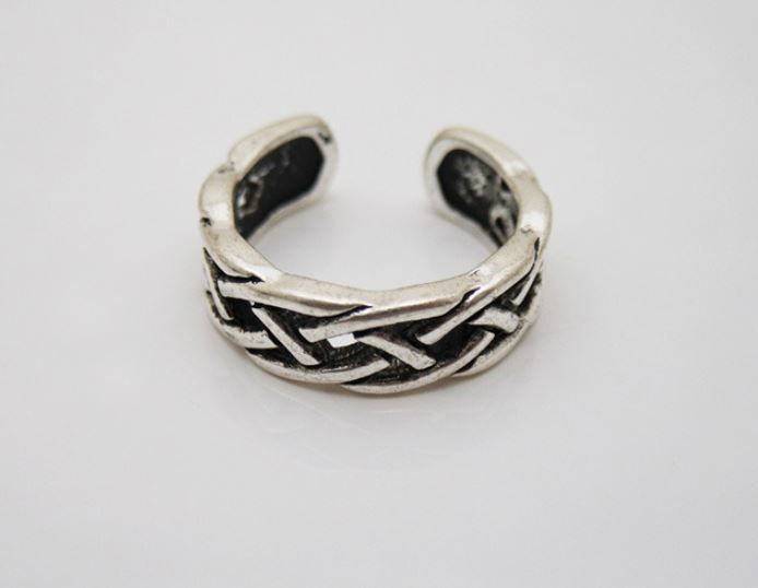 Knot Shape Ring Brass Free Size Silver Color 1pc #Unbranded